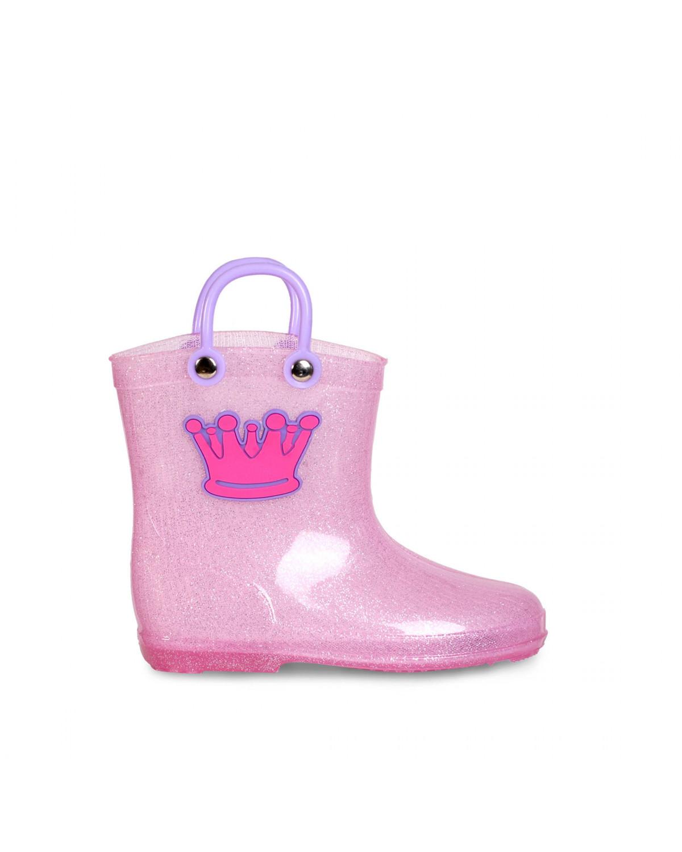 Bota de Lluvia Para Bebé Full Plastic Ariadne 7523 Corona Rosa